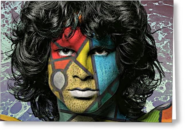 Abstract Jim Morrison Greeting Card