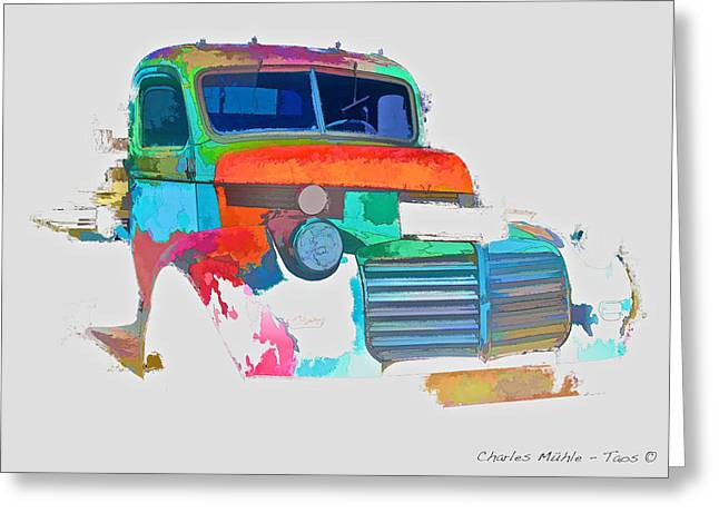 Abstract Jimmy Greeting Card by Charles Muhle
