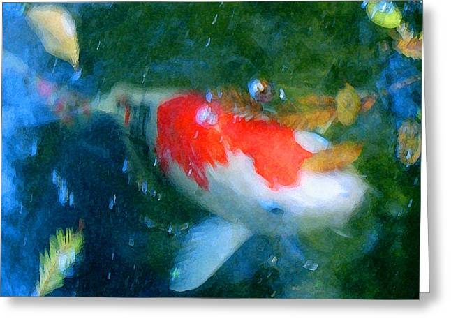Abstract Koi 3 Greeting Card
