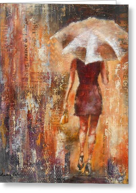 Abstract Lady 3  Greeting Card