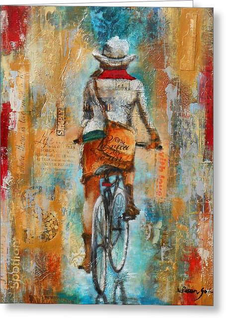 Abstract Lady 4  Greeting Card by Susan Goh