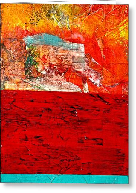 Abstract Landscape I Greeting Card by Carolyn Repka