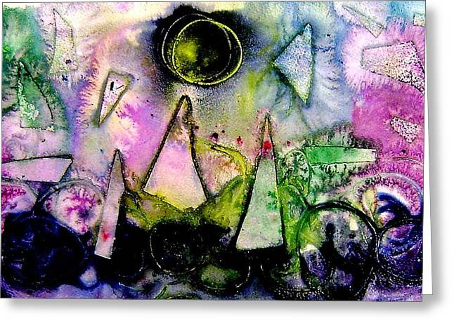 Abstract Landscape  I Greeting Card
