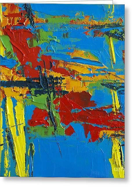 Abstract Landscape No 1 Greeting Card by Patricia Awapara
