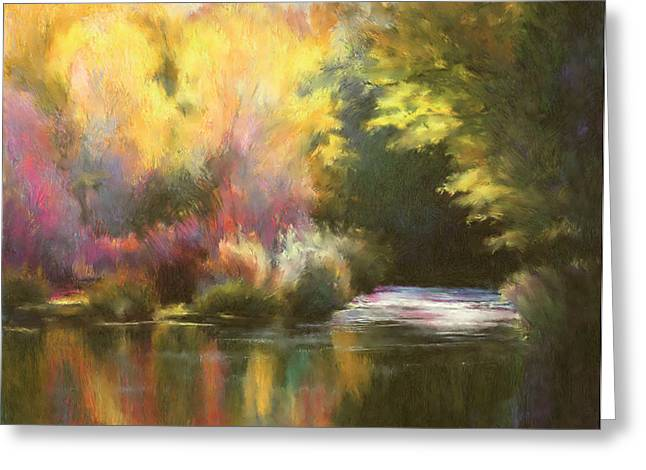 Abstract Landscape Greeting Card by Renee Skiba