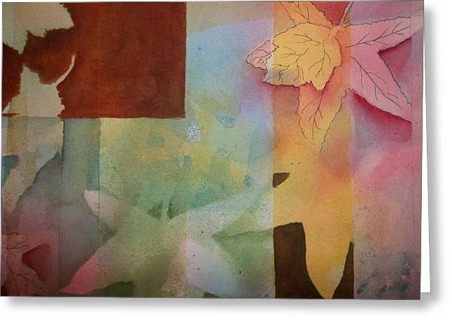Abstract Leaves Greeting Card