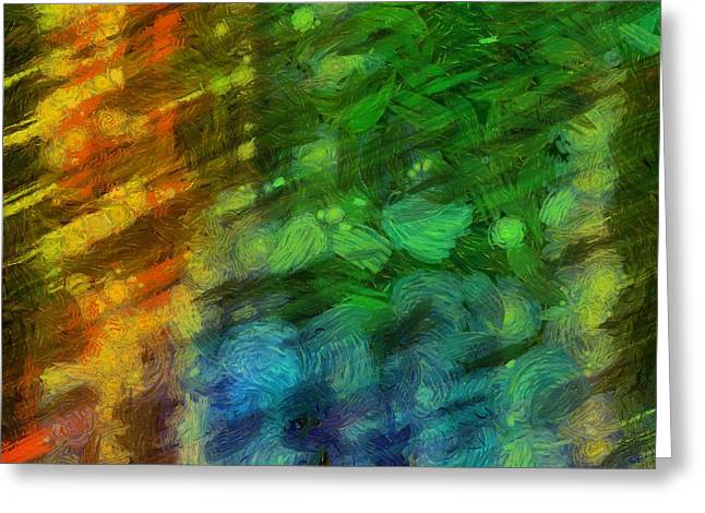 Abstract Lines 10 Greeting Card by Edward Fielding