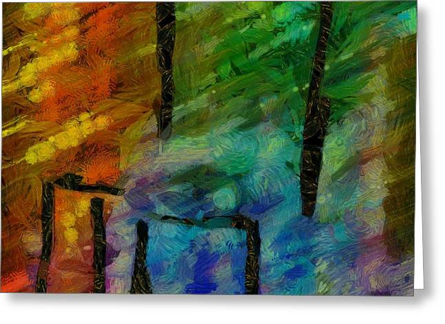 Abstract Lines 11 Greeting Card by Edward Fielding