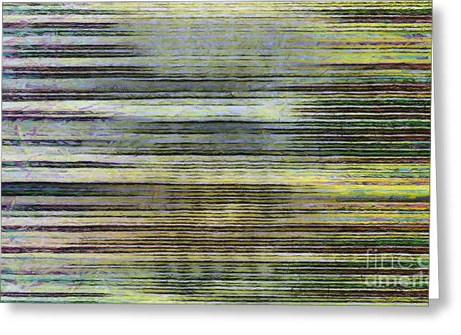 Abstract Lines 2 Greeting Card by Edward Fielding