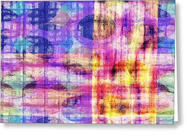 Abstract Lines 21 Greeting Card by Edward Fielding