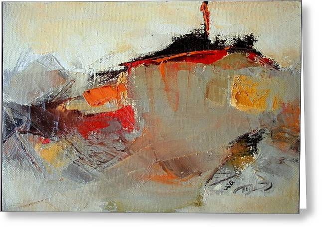 Abstract Lsndscape Greeting Card by  Pemaro
