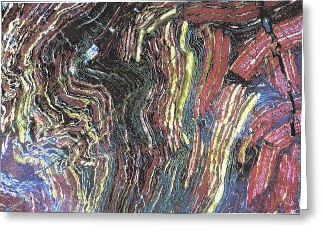 Abstract Marble  Greeting Card by Pat Mchale