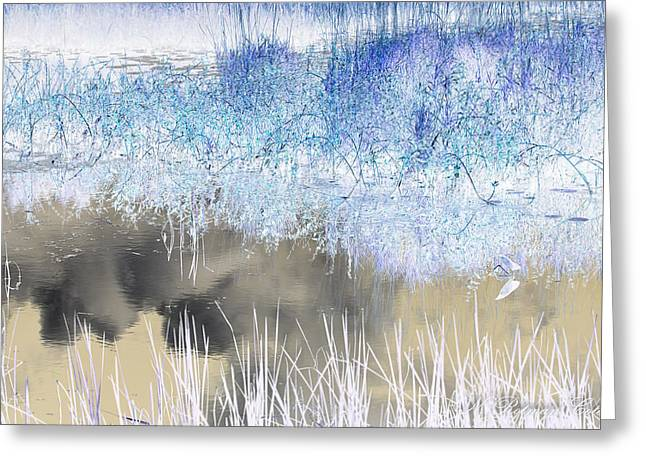 Abstract Marsh  Greeting Card