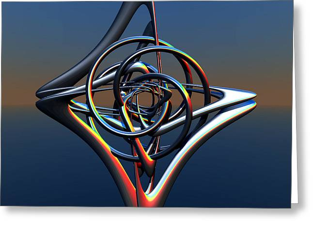 Greeting Card featuring the digital art Abstract Metal by Melissa Messick