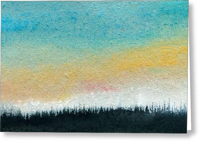 Abstract Minimalist Horizon Greeting Card