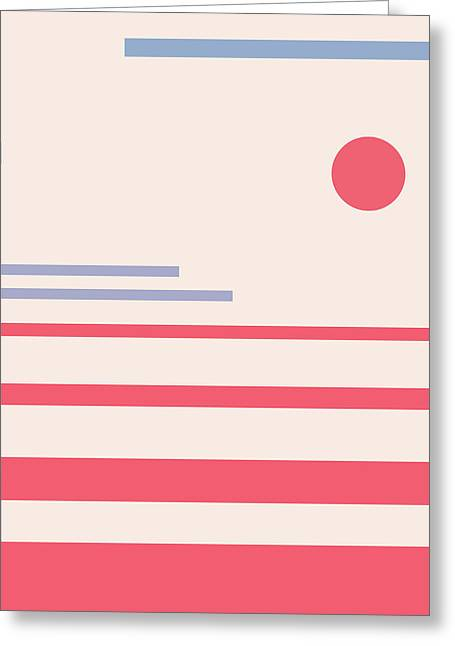 Abstract Minimalistic Landscape Greeting Card