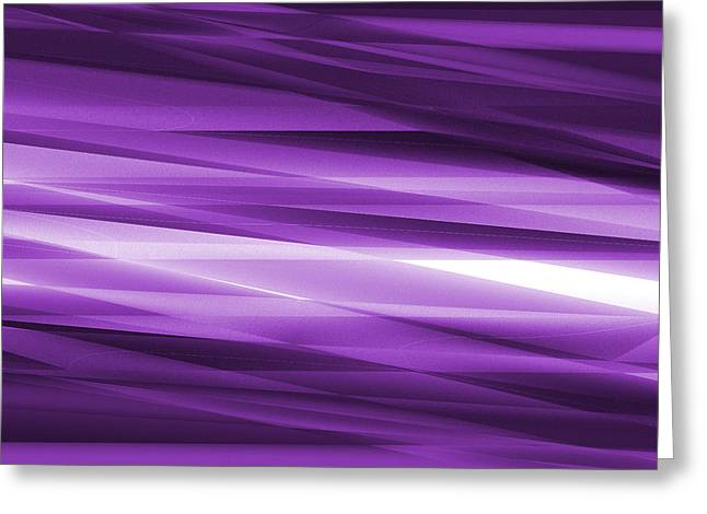 Abstract Modern Purple  Background Greeting Card by Somkiet Chanumporn