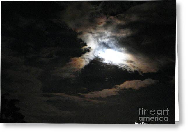 Abstract Moon Greeting Card by Greg Patzer