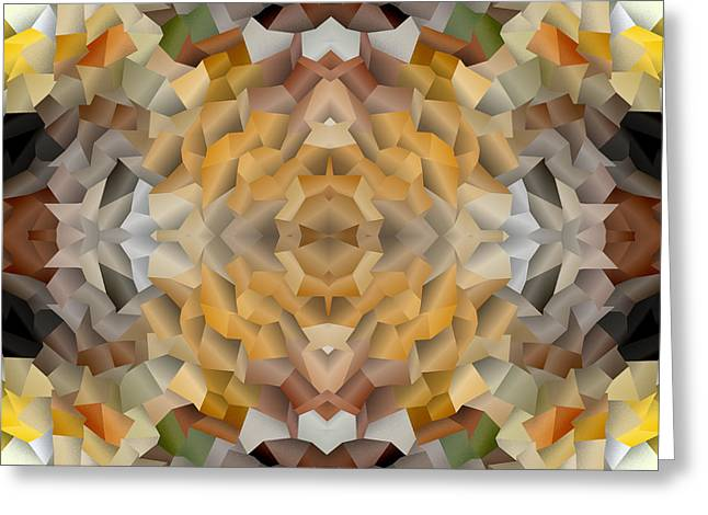 Abstract Mosaic In Earthy Tones Greeting Card