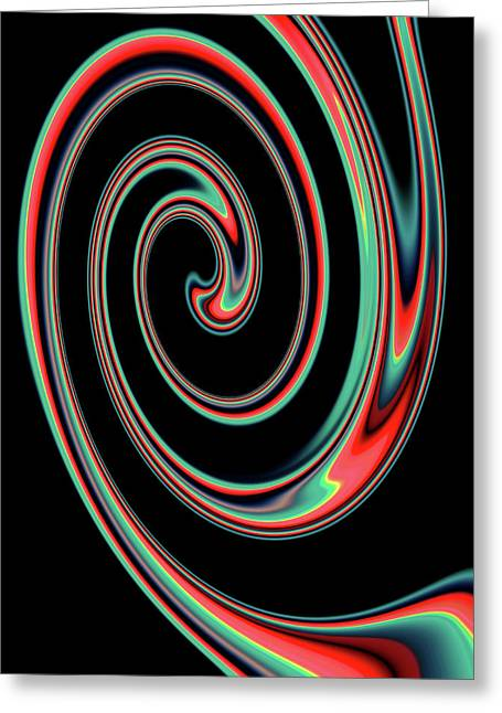 Abstract Multi Colored Spiral Pattern Greeting Card