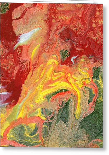 Abstract - Nail Polish - In A State Of Flux Greeting Card by Mike Savad