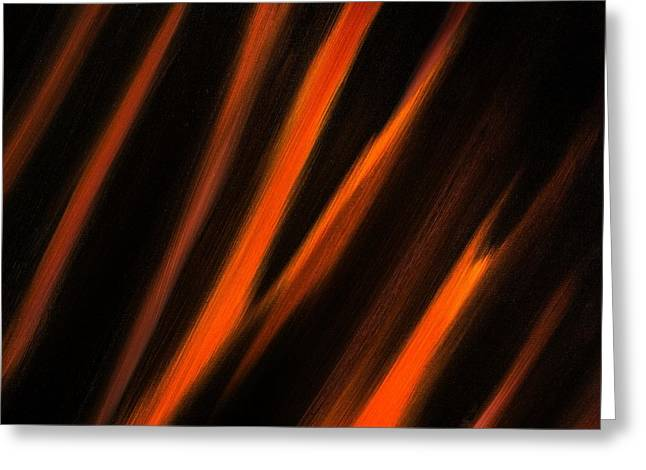Abstract No 2 Tigris Surrexerunt Greeting Card by Brian Broadway