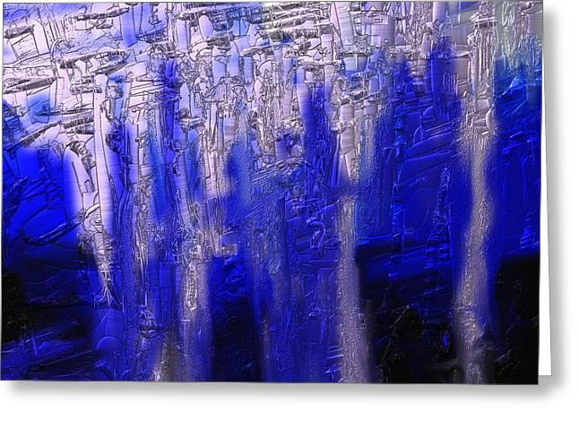 Abstract No. 55 Greeting Card by Shesh Tantry