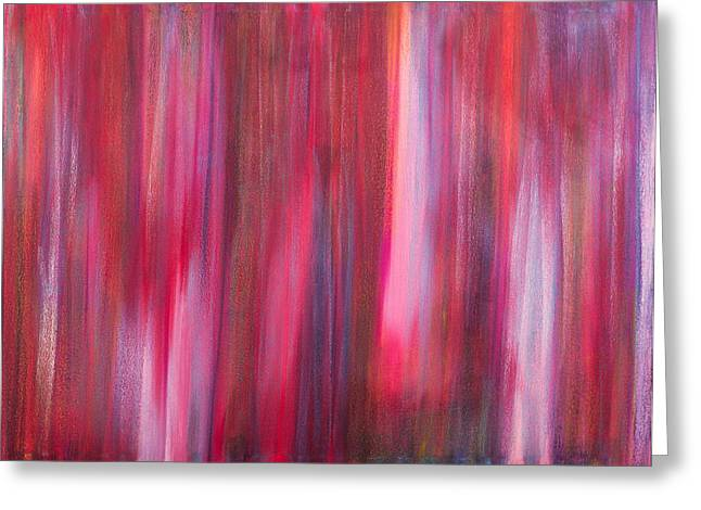 Abstract No 8 Verus Amor Esse Aeternam Greeting Card by Brian Broadway