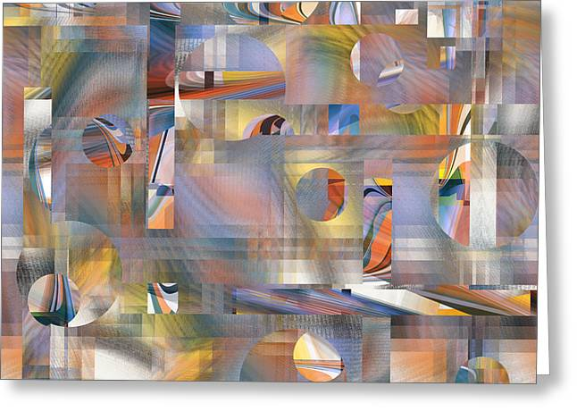 Abstract Number 047 Greeting Card