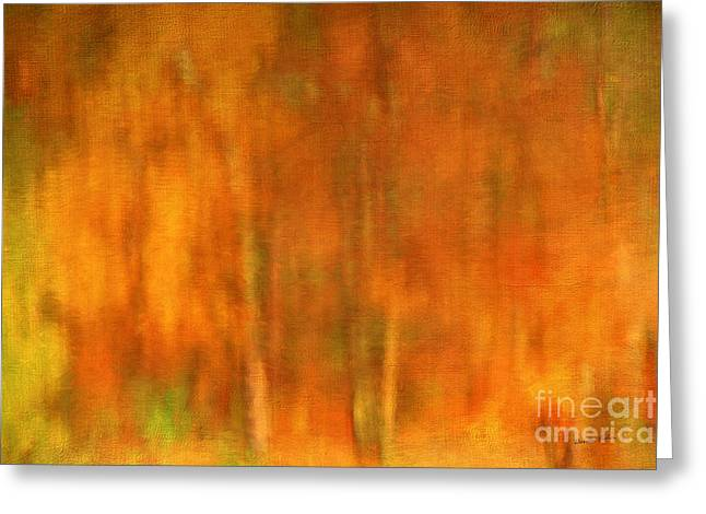 Abstract Of Autumn Greeting Card by Darren Fisher