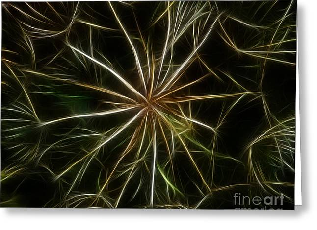 Abstract Of Nature 2 Greeting Card by Vivian Christopher