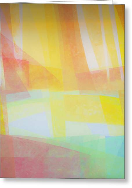 Abstract Of Pastel Colors Greeting Card by Sheila Haddad