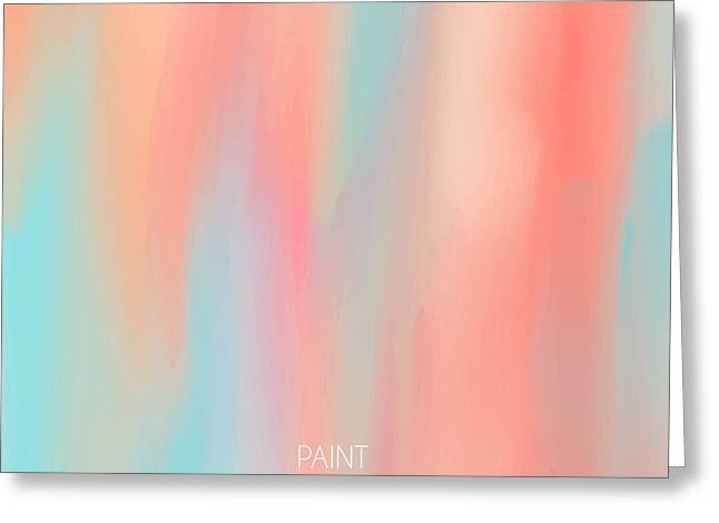 Abstract Oil Painting Texture. Hand Greeting Card