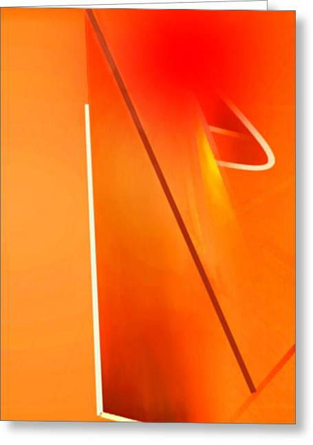Abstract Orange Greeting Card