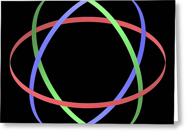 Abstract Orbit Circles Greeting Card by Alfred Pasieka