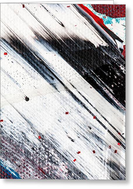 Abstract Original Artwork One Hundred Phoenixes Untitled Number Eight Greeting Card by Maria  Lankina
