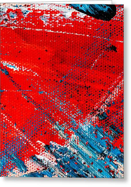Abstract Original Artwork One Hundred Phoenixes Untitled Number Five Greeting Card by Maria  Lankina