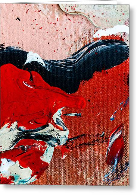 Abstract Original Artwork One Hundred Phoenixes Untitled Number Four Greeting Card by Maria  Lankina