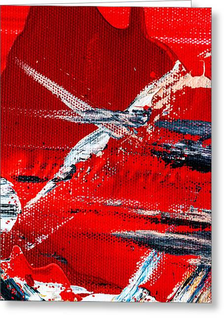 Abstract Original Artwork One Hundred Phoenixes Untitled Number Seven Greeting Card by Maria  Lankina