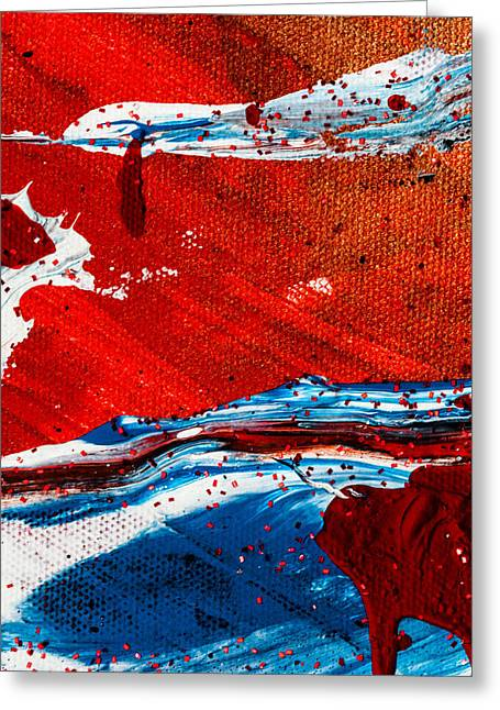 Greeting Card featuring the painting Abstract Original Artwork One Hundred Phoenixes Untitled Number Three by Maria Lankina