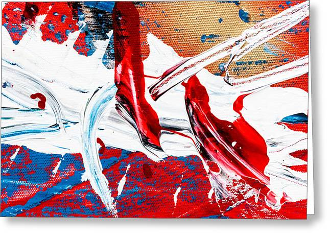 Abstract Original Artwork One Hundred Phoenixes Untitled Number Two Greeting Card by Maria  Lankina