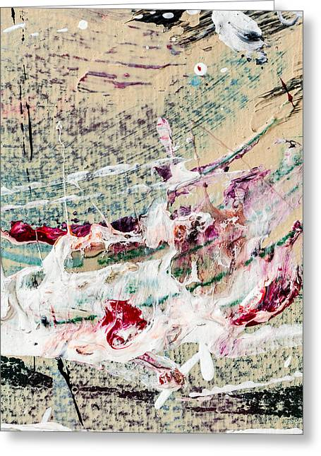 Abstract Original Painting Number Eight Greeting Card by Maria  Lankina