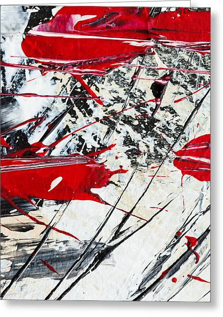 Abstract Original Painting Untitled Ten Greeting Card