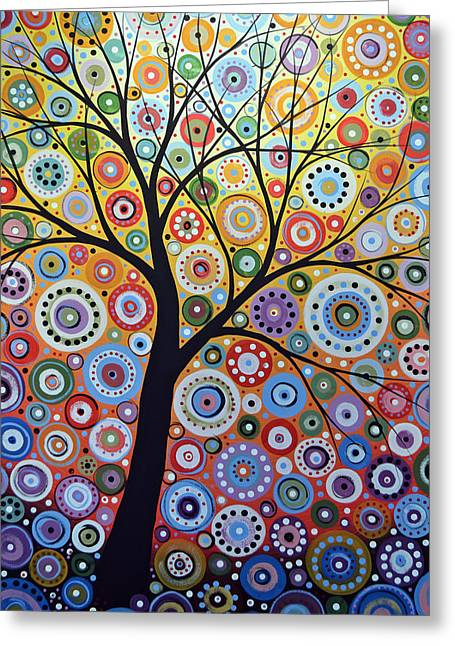 Abstract Original Tree Art Painting ... Sun Arising Greeting Card