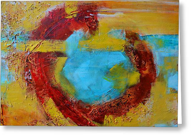 Abstract Painting Elements 1 Greeting Card by Patricia Awapara