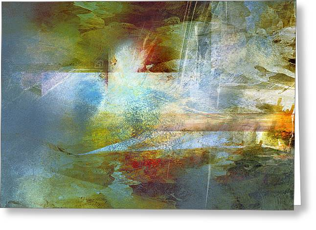 Abstract Painting - Psalms Greeting Card