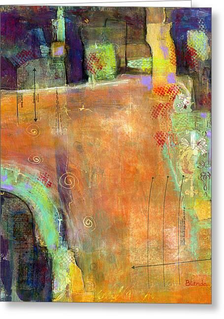 Abstract Painting Simple Pleasure Greeting Card by Blenda Studio