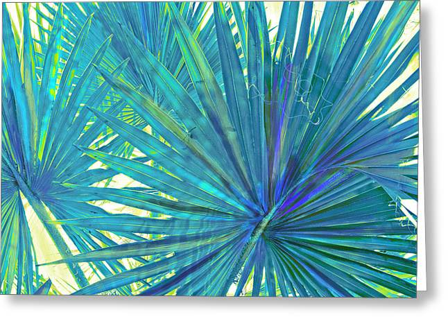 Abstract Palm 2 Greeting Card by Jane Schnetlage