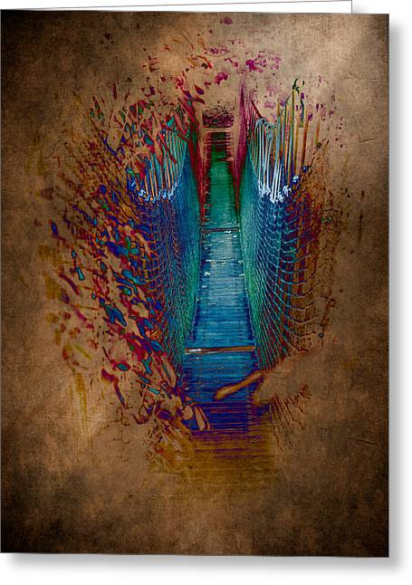 Abstract Path Greeting Card by Loriental Photography