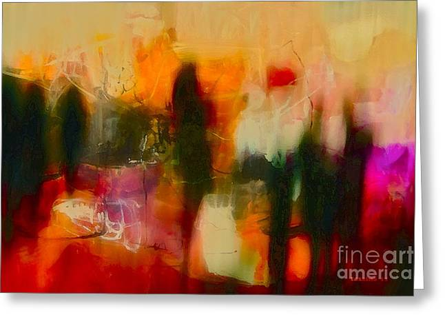 Greeting Card featuring the photograph Abstract People by Danica Radman